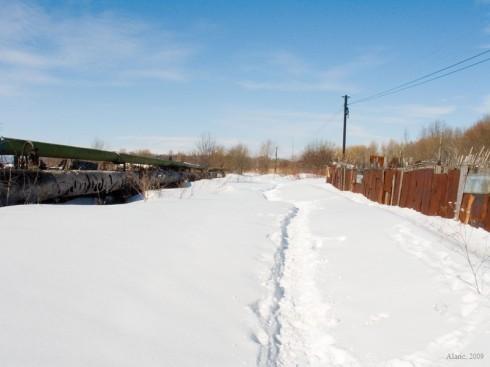 Цитадельское шоссе зимой