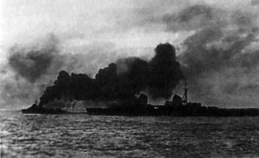 Прикрытие крейсера «Киров» дымовой завесой. Август 1941 года